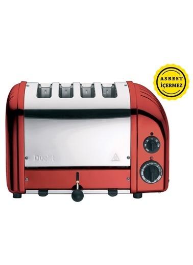 Dualit 47031 Classic 4 Hazneli Ekmek Kızartma Makinesi - Kırmızı Renkli